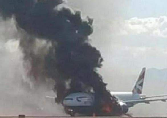Avion encendido