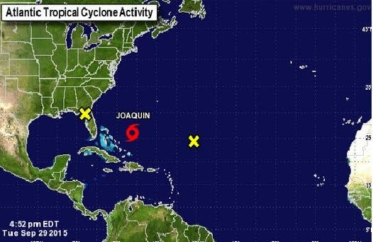 La tormenta tropical presenta vientos máximos sostenidos de 100 kilómetros por hora. Fuente externa.