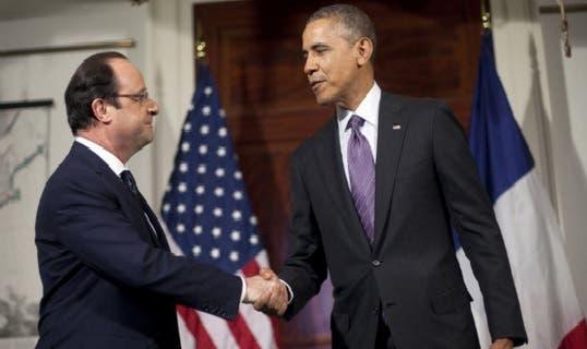Barack Obama y Hollande