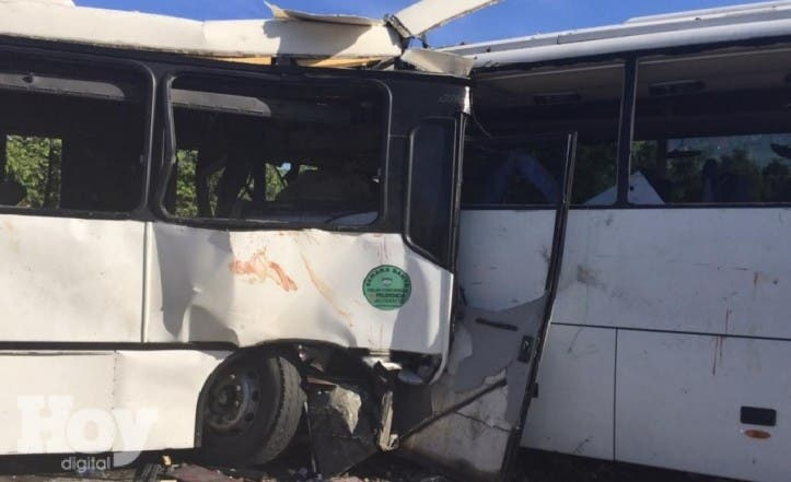 Colision autobuses Higuey
