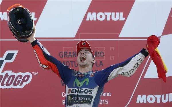 Jorge Lorenzo alcanza un nuevo sueño, su tercer título de MotoGP