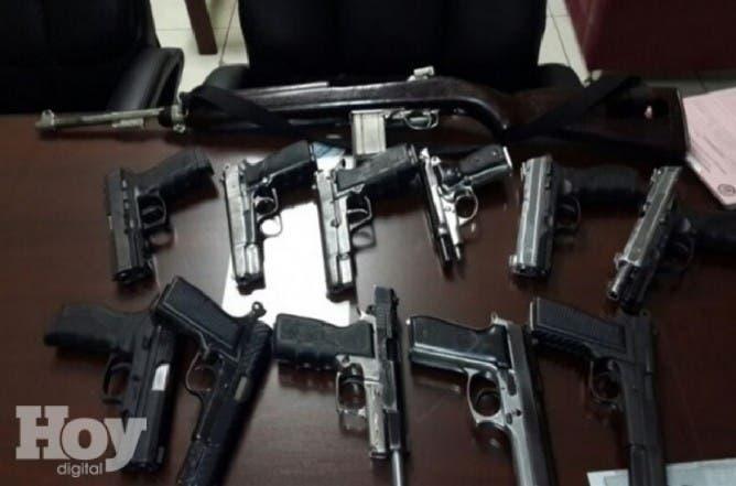 Armas de fuego ocupadas