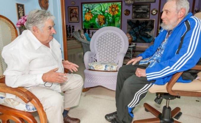 Fidel y Mujica hablan