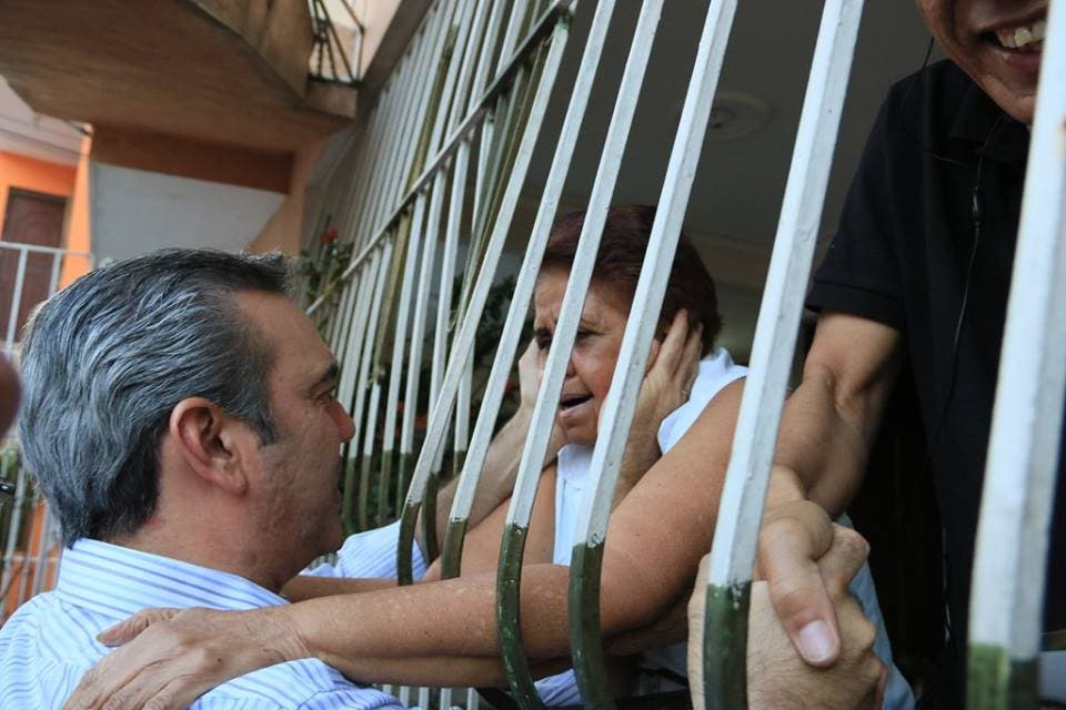 Foto de Luis durante  un mano a mano en el sector de La Paz, circunscripción 1 del Distrito Nacional 2