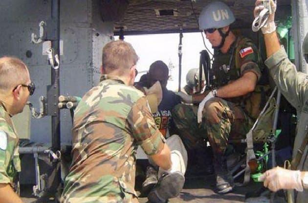 Hieren militar chileno en Haiti