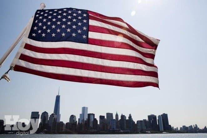 Bandeira dos EUA em Manhattan Nova York