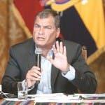 Rafael Correa, expresidente de Ecuador. Foto archivo.
