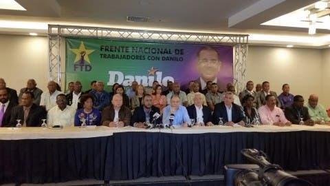 Dirigentes Mov. sindical apoyan a Danilo Medina 1