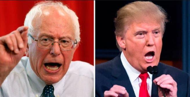 Donald Trump y Sanders