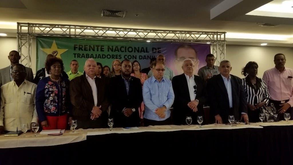 Sindicalista Pepe Abreu apoya a Danilo Medina; dice merece segunda oportunidad