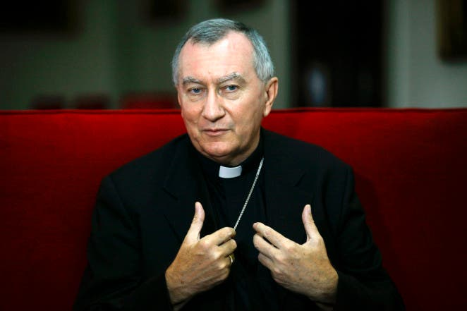 Italian Archbishop Pietro Parolin, the Vatican's newly appointed secretary of state, gestures during an interview in Caracas, Venezuela, Sept. 4. Archbishop Parolin, nuncio to Venezuela since 2009, will succeed Cardinal Tarcisio Bertone. (CNS photo/Jorge Silva, Reuters) (Sept. 5, 2013) See POPE-PAROLIN Sept. 3, 2013.
