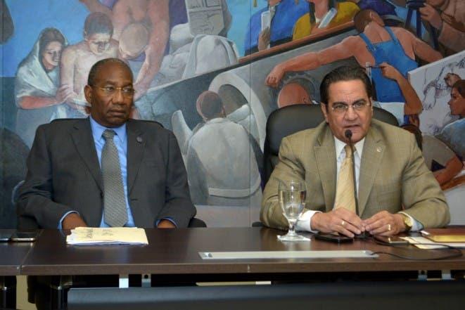 El  rector de la UASD, Fotos: Adolfo Woodley Valdez.