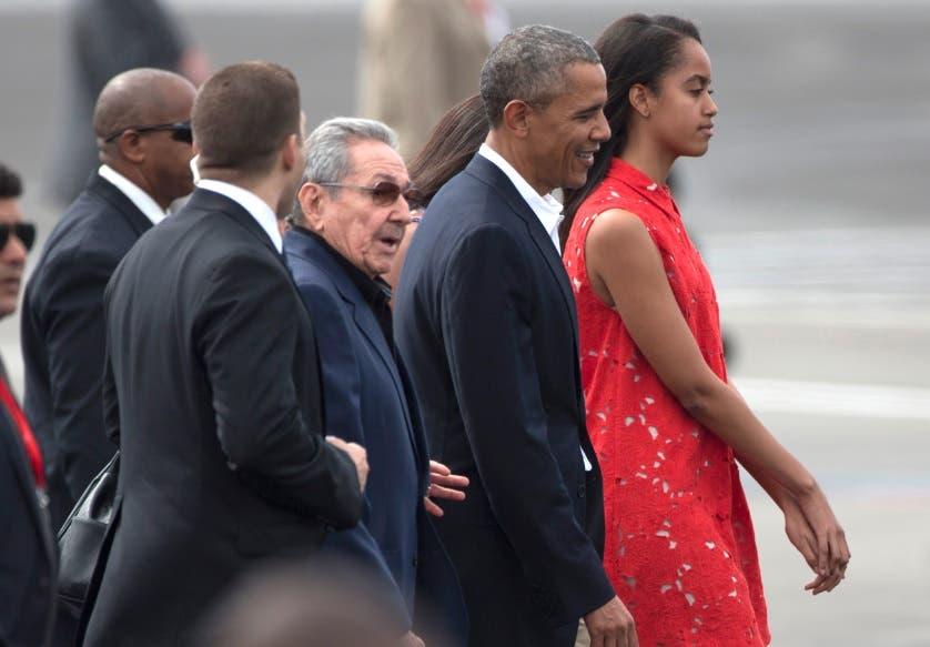 Barack Obama y Raul Castro
