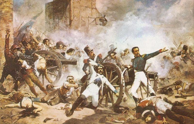 Pintura alegórica a la Batalla del 30 de Marzo. Fuente externa.