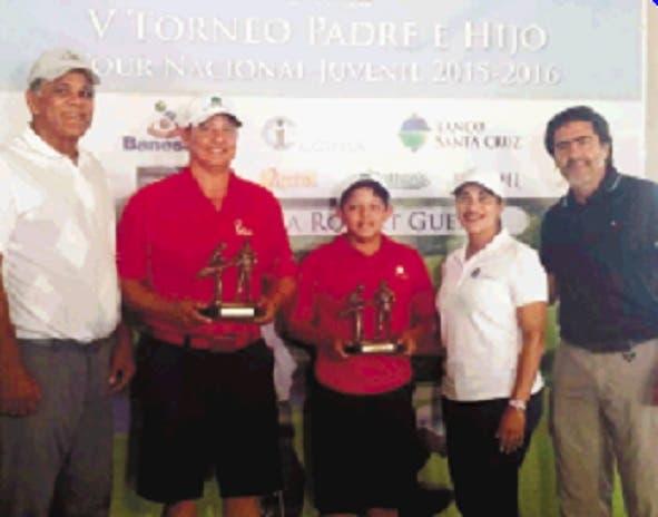 Pareja Rodríguez gana torneo de golf  padres e hijos