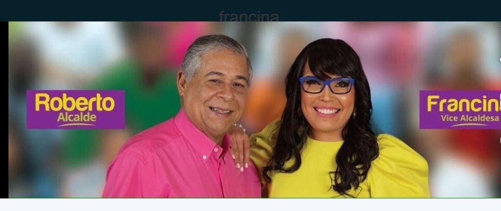 Francina Hungría y Roberto Salcedo