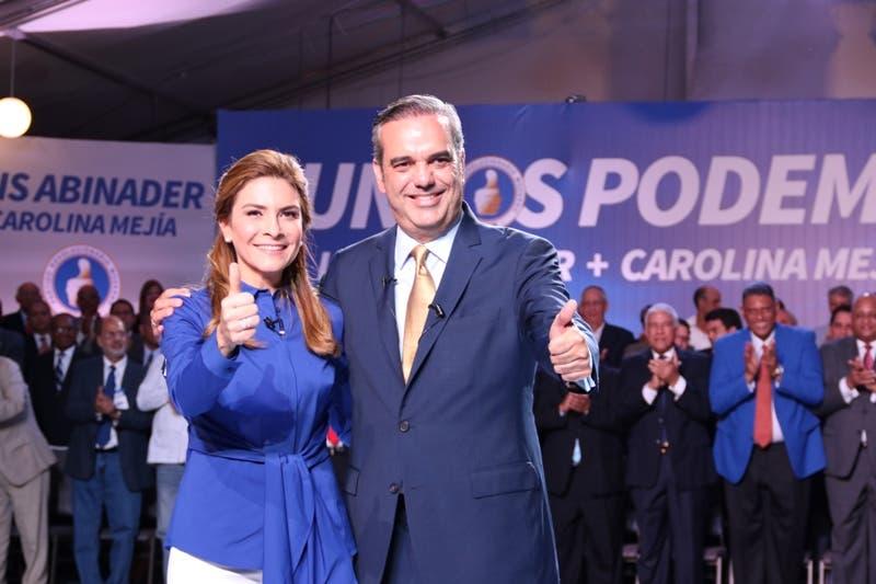 Luis Abinader selecciona a Carolina Mejía como candidata a la Vicepresidencia. Hoy/Fuente Externa.