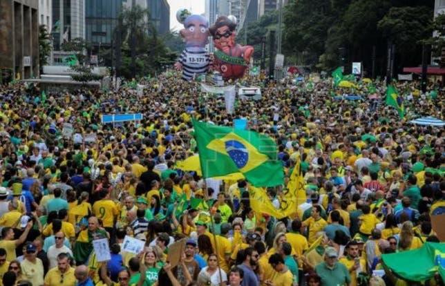 Protesta en Brasil t