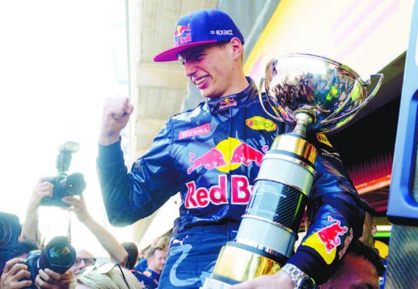 Verstappen festejó en el último GP de Malasia