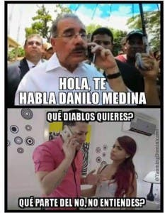 Vea aquí los memes de la llamada de Danilo Medina pidiendo que voten por él