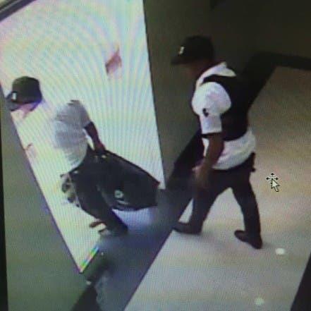 Presuntos autores del asalto al Banco BHD en Puerto Plata