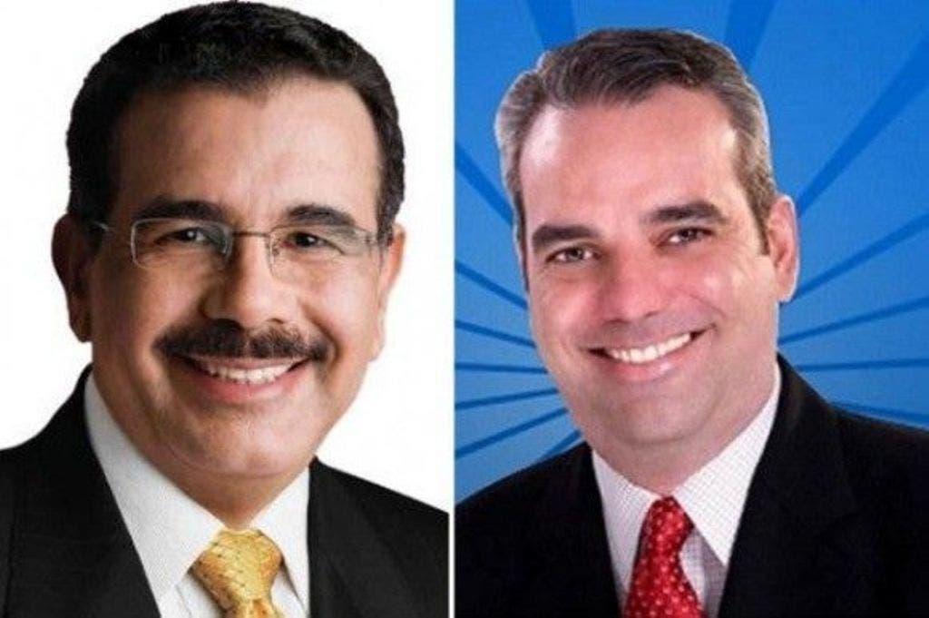 Primer boletín JCE: Danilo Medina 61.91%, Luis Abinader 35.13%