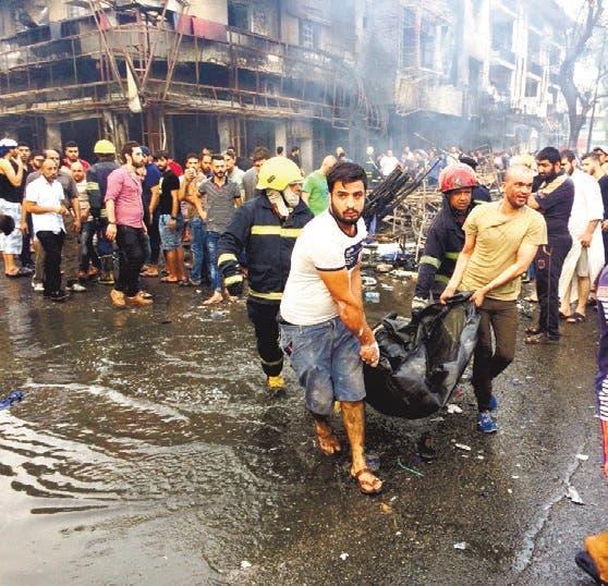 Ataque terrorista deja 115 muertos en calle de Bagdad