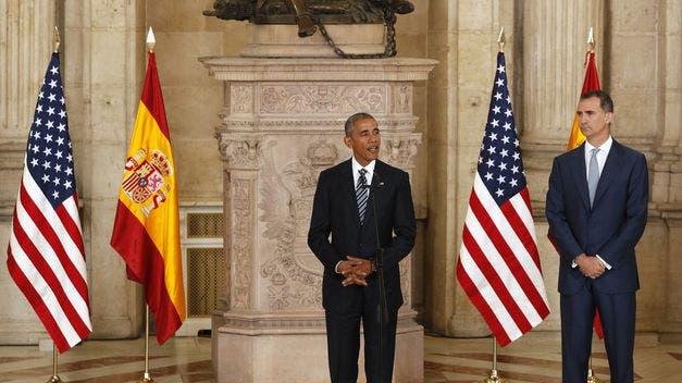Obama agradece a Felipe VI trato recibido por autoridades y pueblo de España