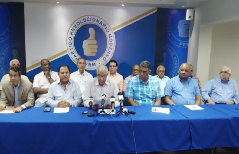 PRM condiciona su participación en diálogo político a inclusión de todos los partidos y la sociedad civil