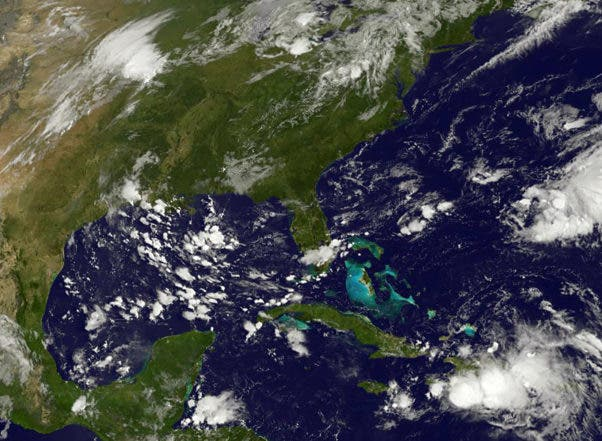 "This NASA-NOAA GOES East satellite photo taken August 25, 2016 shows storm activity in the Atlantic. Gaston was upgraded to the third hurricane of the Atlantic season August 25, 2016, although it is expected to revert back to a tropical storm later in the day, the US-based National Hurricane Center said. Swirling in the middle of the Atlantic Ocean some 1,225 miles (1,970 kilometers) east of the Leeward Islands, Gaston poses no hazard to land. Data collected by the agency's hurricane-tracking mission indicated maximum sustained winds near 75 miles per hour, with higher gusts, as Gaston travels in a northwest direction at 17 mph.  - RESTRICTED TO EDITORIAL USE - MANDATORY CREDIT ""AFP PHOTO / NASA-NOAA GOES PROJECT"" - NO MARKETING NO ADVERTISING CAMPAIGNS - DISTRIBUTED AS A SERVICE TO CLIENTS    / AFP / NASA-NOAA GOES Project / HO / RESTRICTED TO EDITORIAL USE - MANDATORY CREDIT ""AFP PHOTO / NASA-NOAA GOES PROJECT"" - NO MARKETING NO ADVERTISING CAMPAIGNS - DISTRIBUTED AS A SERVICE TO CLIENTS"