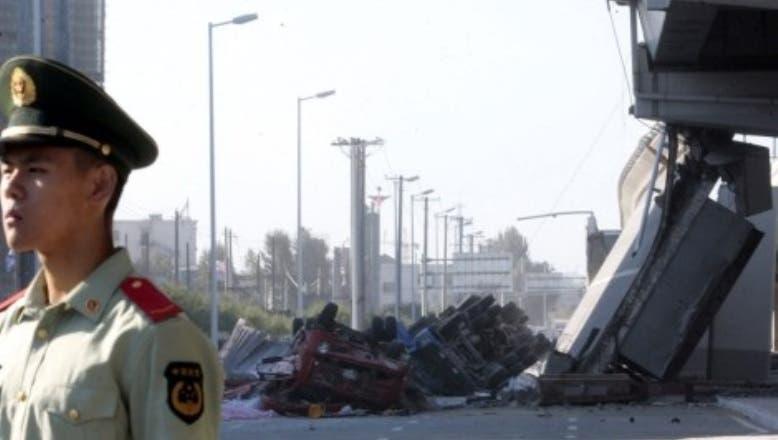 Tres muertos y dos heridos al hundirse un puente en el este de China