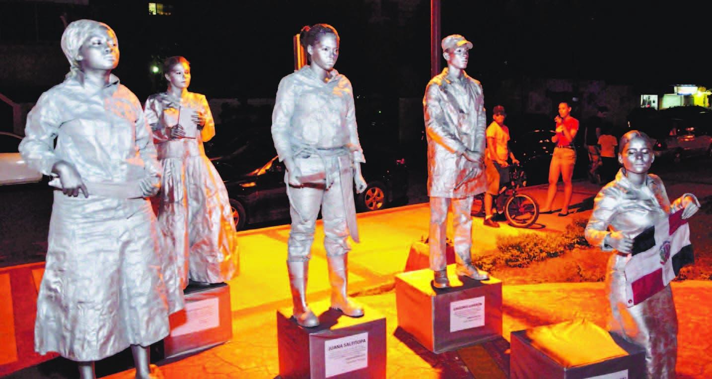 Estatuas Vivas Expresión cultural que atrae a juventud