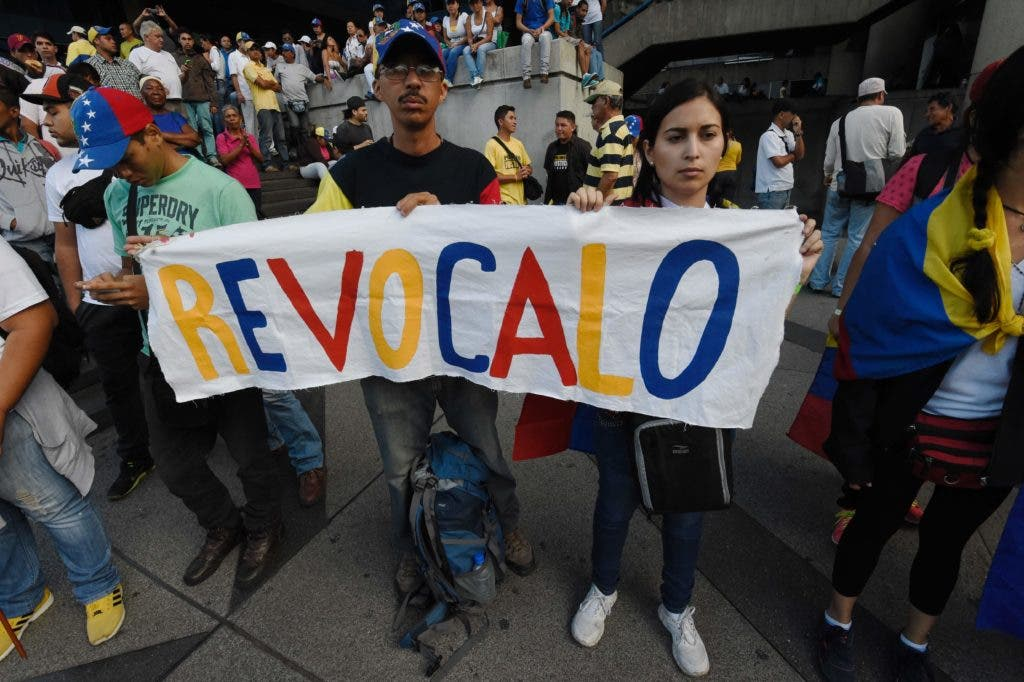 """El opositor venezolano insistió en que el referéndum debe celebrarse en 2016, ya que """"no planteamos un cambio de presidente sino un cambio de gobierno."""