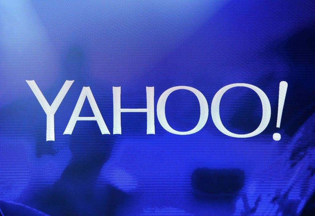 "(FILES) This file photo taken on January 06, 2014 shows a Yahoo! logo  on a screen during a keynote address by Yahoo! President and CEO Marissa Mayer at the 2014 International CES at The Las Vegas Hotel & Casino in Las Vegas, Nevada.  Yahoo said September 22, 2016 a massive attack on its network in 2014 accessed data from at least 500 million users and may have been ""state sponsored."" ""Based on the ongoing investigation, Yahoo believes that information associated with at least 500 million user accounts was stolen,"" a statement from the US Internet giant.  / AFP / GETTY IMAGES NORTH AMERICA / Ethan Miller"