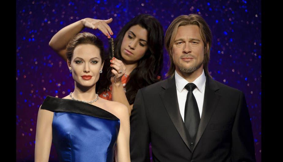 Figuras de cera Angelina Jolie y Brad Pitt
