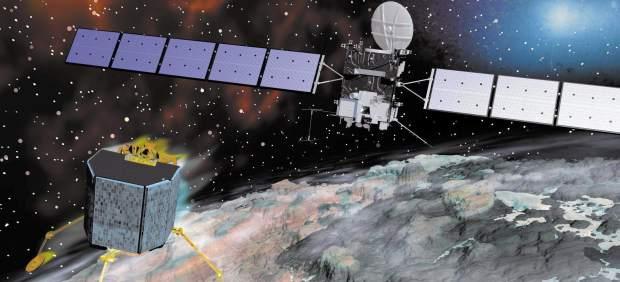 Una cámara de la sonda Rosetta localiza al módulo