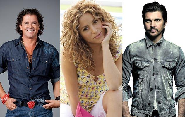 Shakira, Juanes y Carlos Vives, las caras más representativas de la música colombiana, han entonado mensajes de reconciliación, amor y perdón