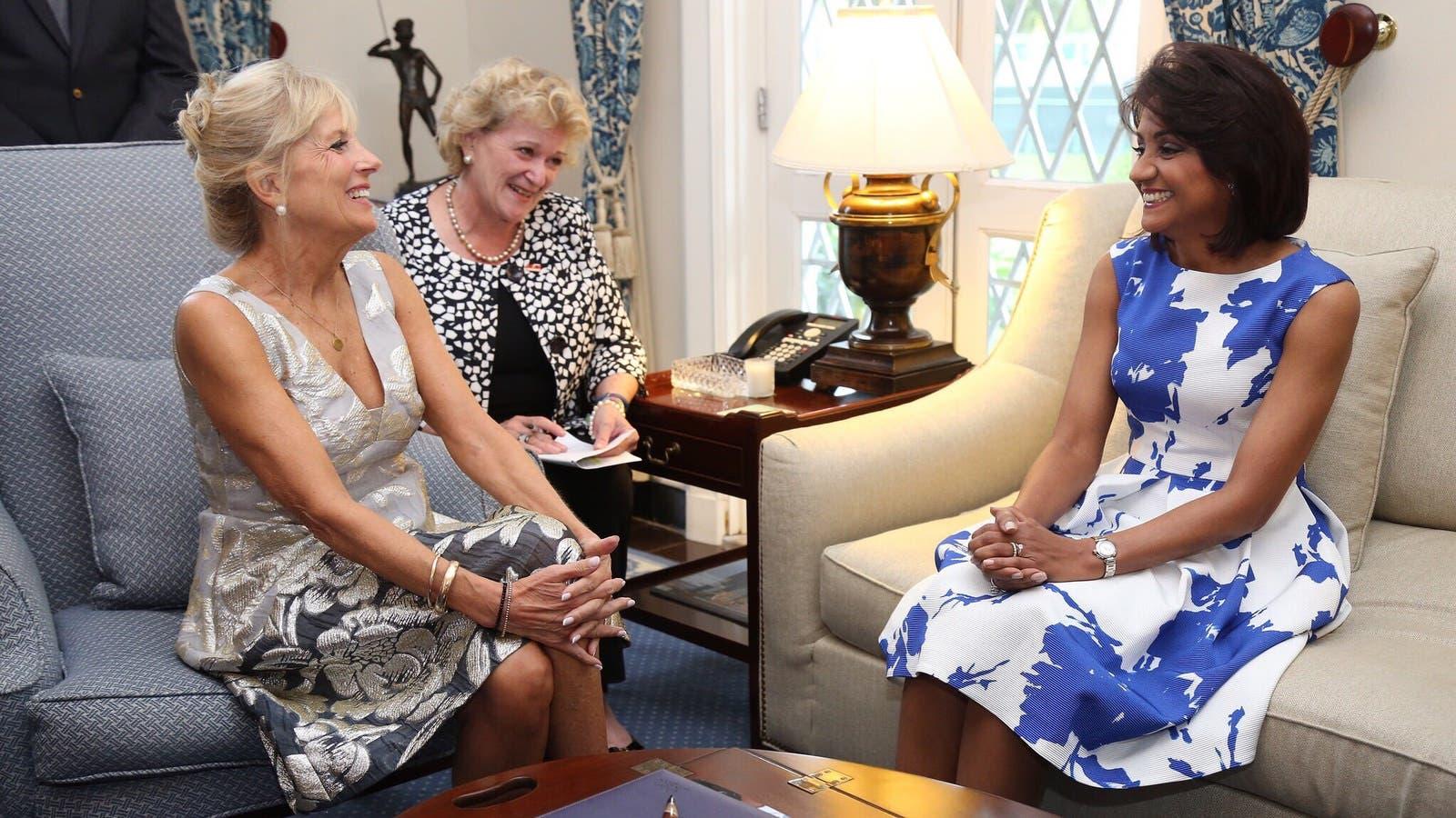 Esposa del vicepresidente de EE. UU  Joe Biden visita RD para hablar de salud y educación