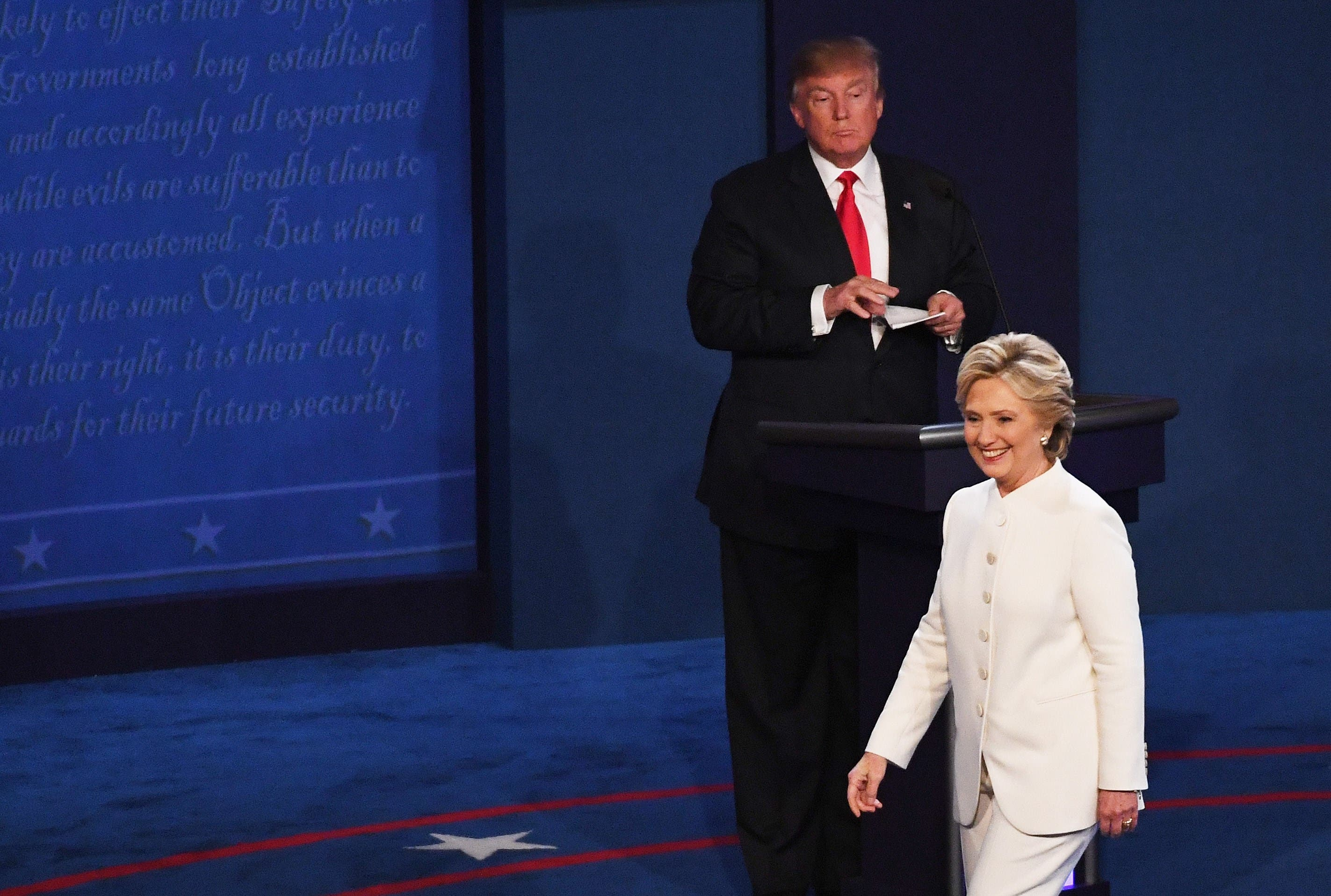 Final Presidential Debate Between Hillary Clinton And Donald Trump Held In Las Vegas