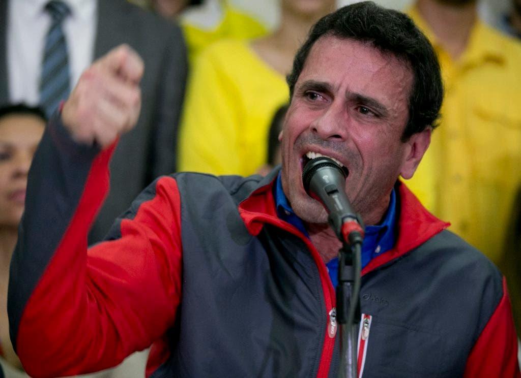 El líder opositor Henrique Capriles, /AP.