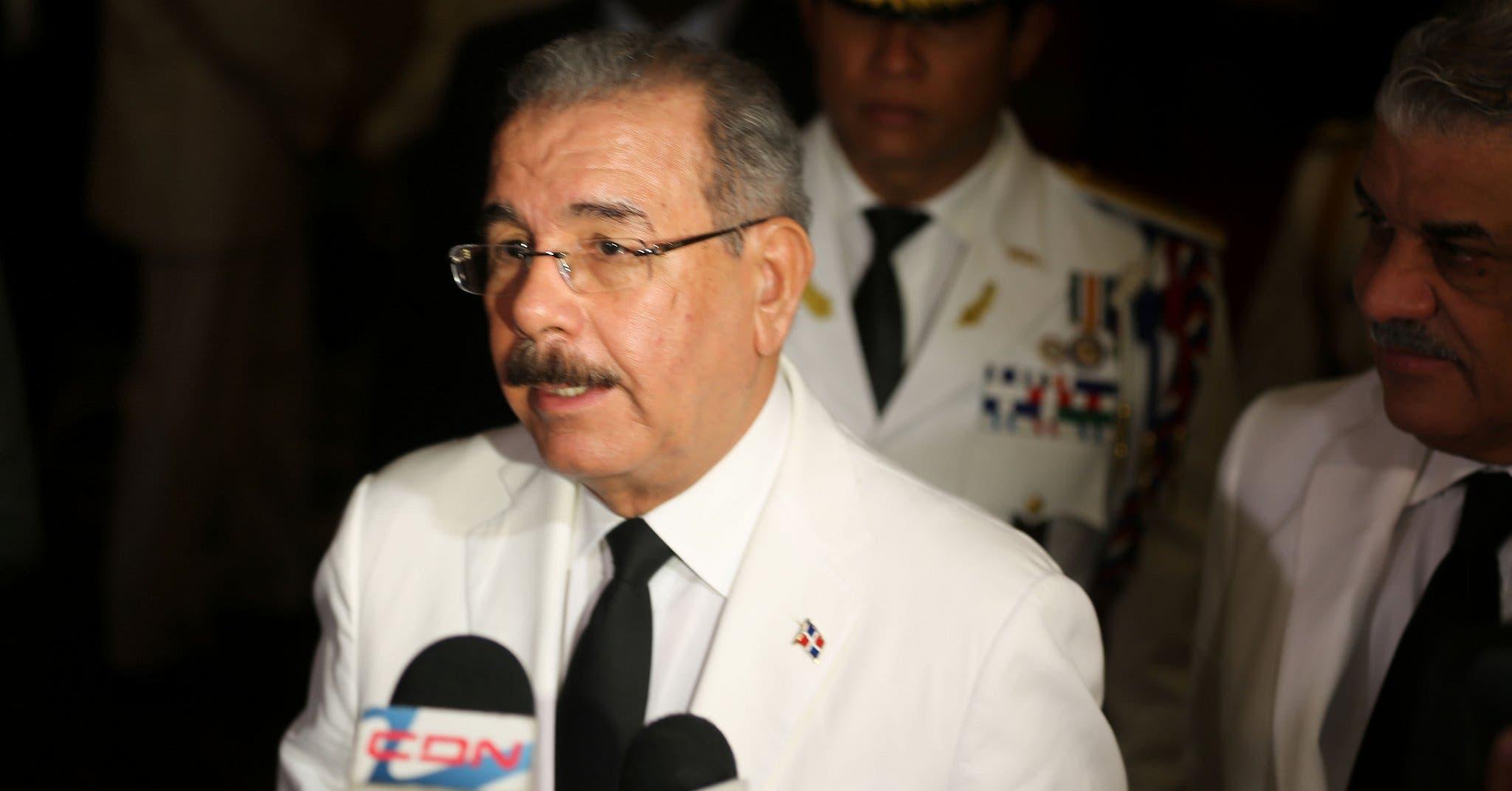 Danilo Medina: Si RD es un puente de drogas, EE.UU. es una avenida de diez carriles