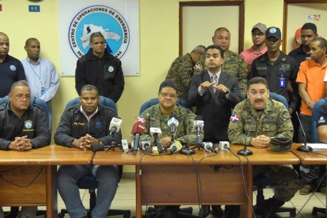 País / Rueda de Prensa del COE, por la trayectoria de la tormenta Matthew. 04-10-16. Fotos: Adolfo Woodley Valdez.