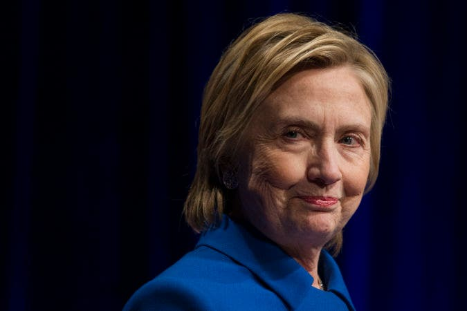 Hillary Clinton addresses the Children's Defense Fund's Beat the Odds celebration at the Newseum in Washington, Wednesday, Nov. 16, 2016. (AP Photo/Cliff Owen)