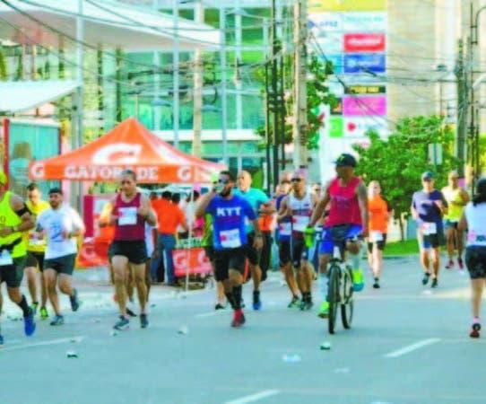 Acción del medio maratón, el pasado año, en las calles de SD
