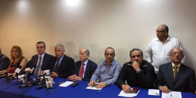 Bloque opositor denuncia PLD quiere imponer una JCE «secuestrada»