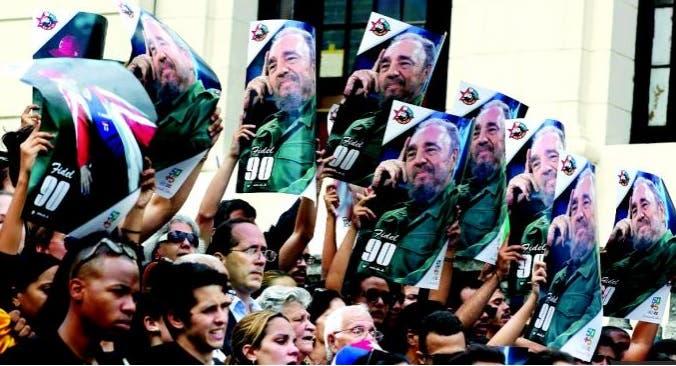 Fiden Castro en la Plaza