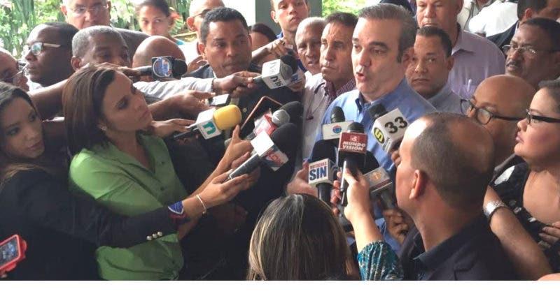 Luis Abinader y Cruz Jiminian