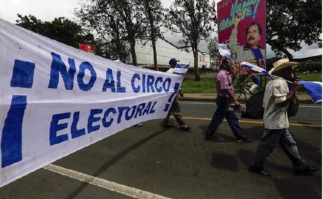 Oposición nicaragüense marchará contra elecciones del domingo