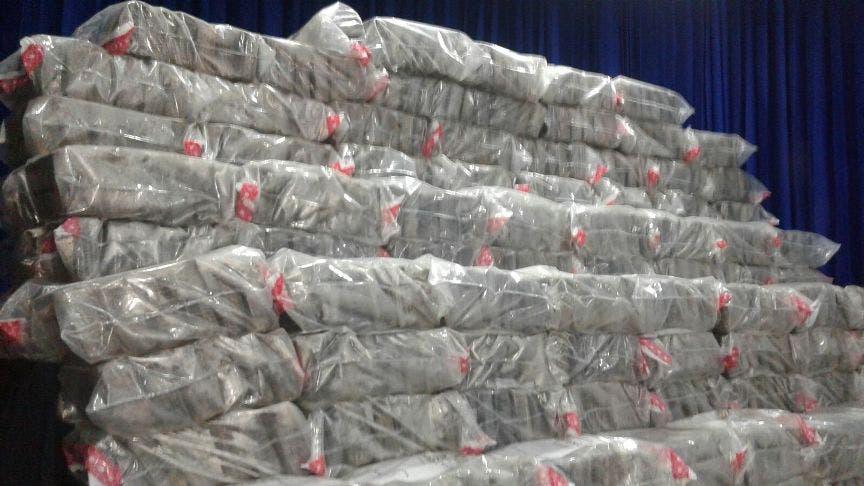Autoridades decomisan más de 10 toneladas de drogas durante el 2016