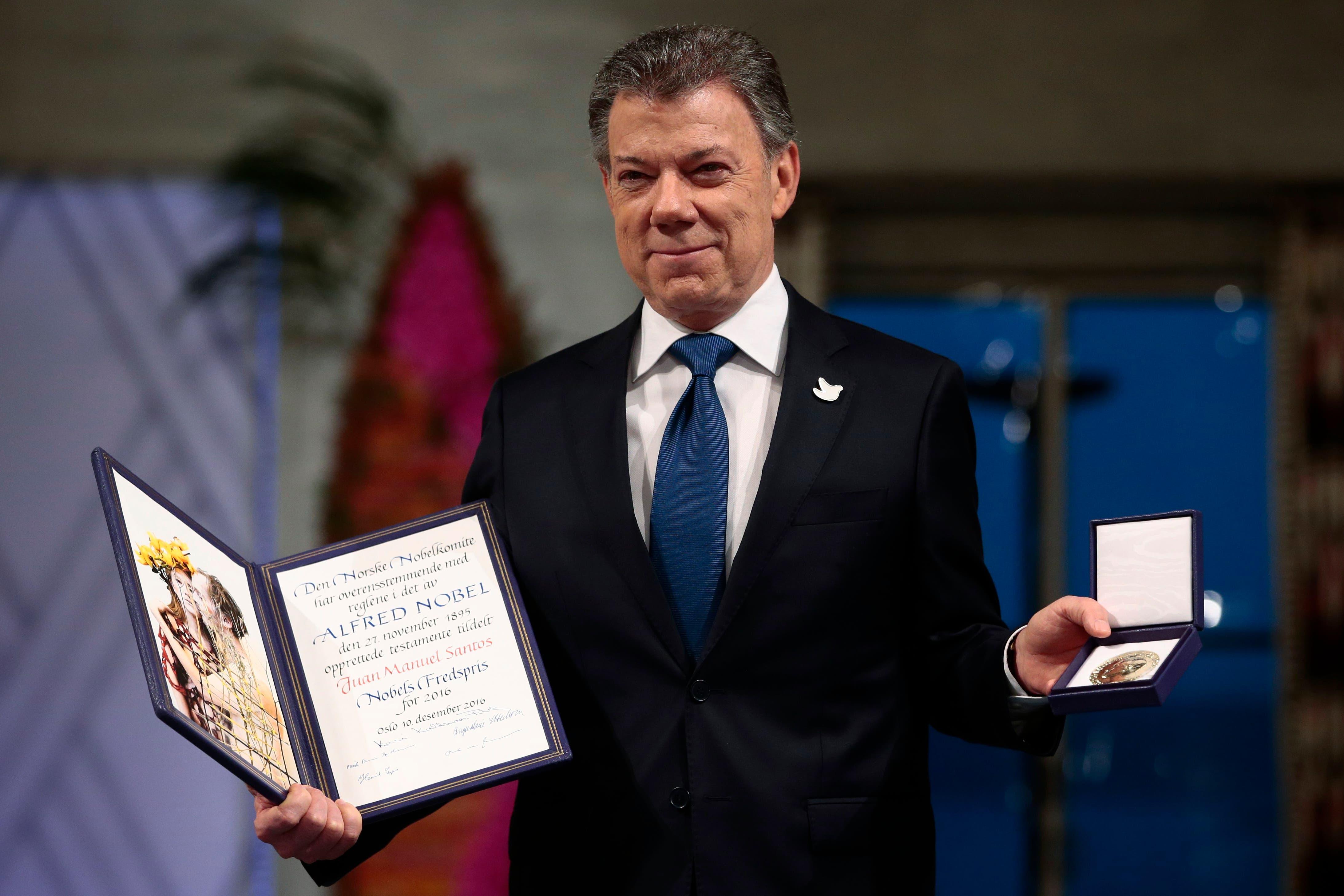 Norway Nobel Peace Santos